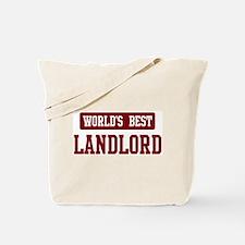 Worlds best Landlord Tote Bag