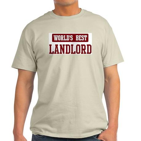Worlds best Landlord Light T-Shirt