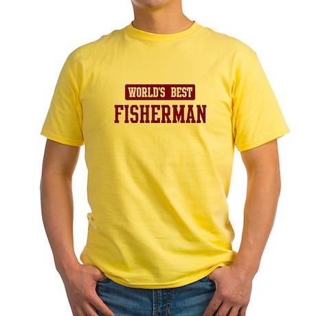 Worlds best Fisherman Yellow T-Shirt