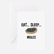 Eat ... Sleep ... MOLES Greeting Cards (Pk of 10)
