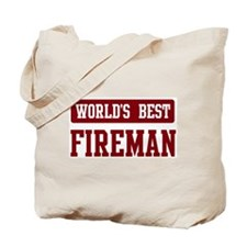 Worlds best Fireman Tote Bag
