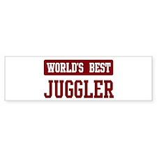 Worlds best Juggler Bumper Bumper Sticker