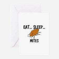Eat ... Sleep ... MITES Greeting Cards (Pk of 10)