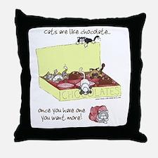 Chocolate Cats Throw Pillow