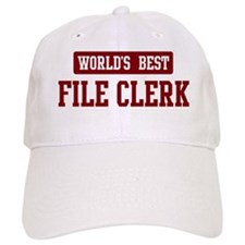Worlds best File Clerk Baseball Cap