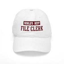 Worlds best File Clerk Cap