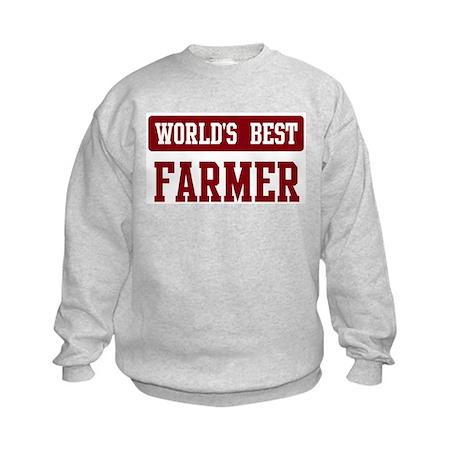 Worlds best Farmer Kids Sweatshirt