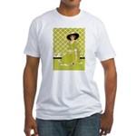 Lady in Green Fitted T-Shirt