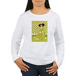 Lady in Green Women's Long Sleeve T-Shirt