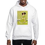 Lady in Green Hooded Sweatshirt