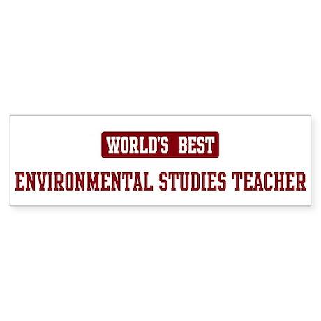 Worlds best Environmental Stu Bumper Sticker