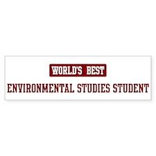 Worlds best Environmental Stu Bumper Bumper Sticker