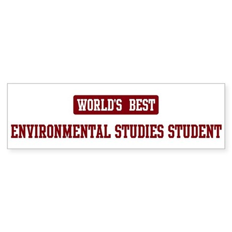 Worlds best Environmental Stu Bumper Sticker