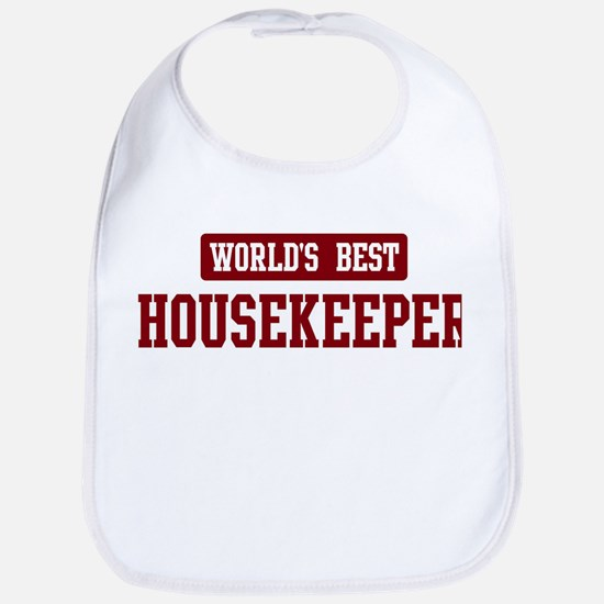 Worlds best Housekeeper Bib