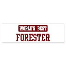 Worlds best Forester Bumper Bumper Sticker