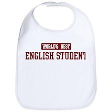 Worlds best English Student Bib