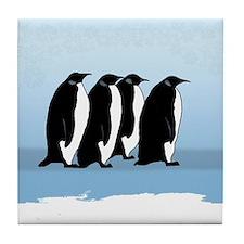 Antarctica Penguins Tile Coaster