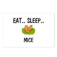 Eat ... Sleep ... MICE Postcards (Package of 8)