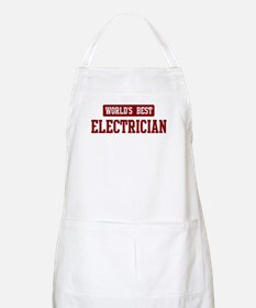 Worlds best Electrician BBQ Apron