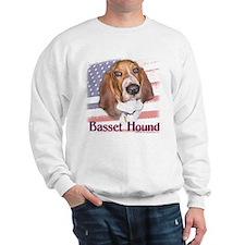 Patriotic Basset Hound Sweatshirt