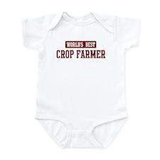 Worlds best Crop Farmer Infant Bodysuit