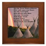 Cherokee prayer Framed Tiles