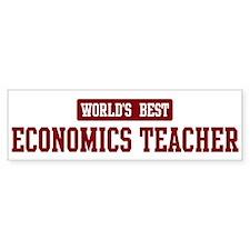 Worlds best Economics Teacher Bumper Bumper Sticker