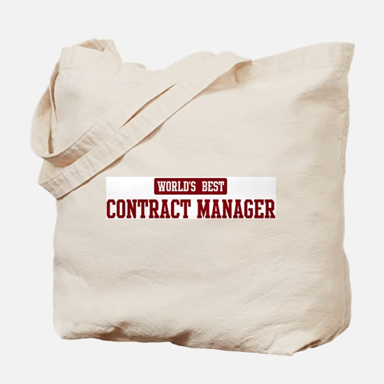 Worlds best Contract Manager Tote Bag