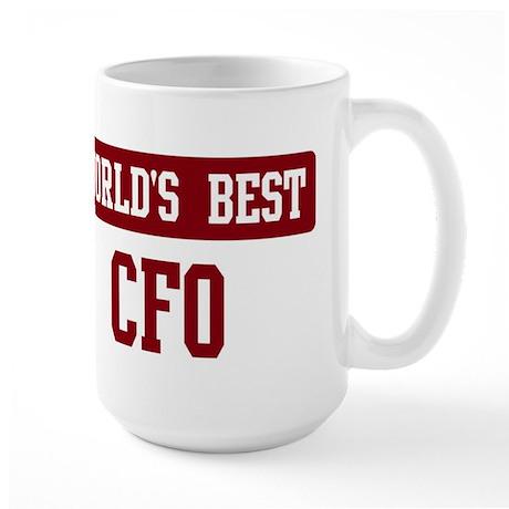 Worlds best CFO Large Mug