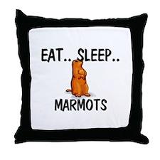 Eat ... Sleep ... MARMOTS Throw Pillow