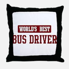 Worlds best Bus Driver Throw Pillow
