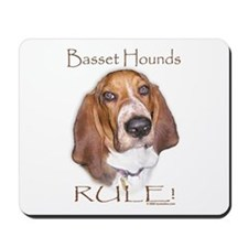 Basset Hounds Rule 2 Mousepad