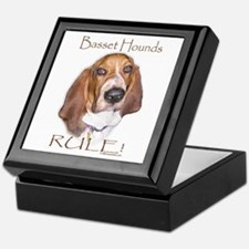 Basset Hounds Rule 2 Keepsake Box