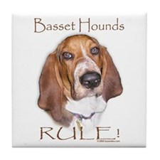 Basset Hounds Rule 2 Tile Coaster
