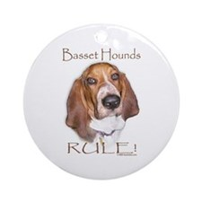 Basset Hounds Rule 2 Ornament (Round)