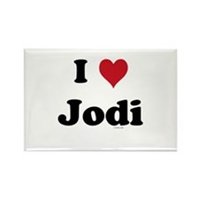 I love Jodi Rectangle Magnet