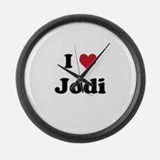 I love Jodi Large Wall Clock