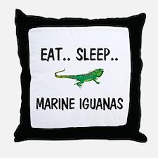 Eat ... Sleep ... MARINE IGUANAS Throw Pillow