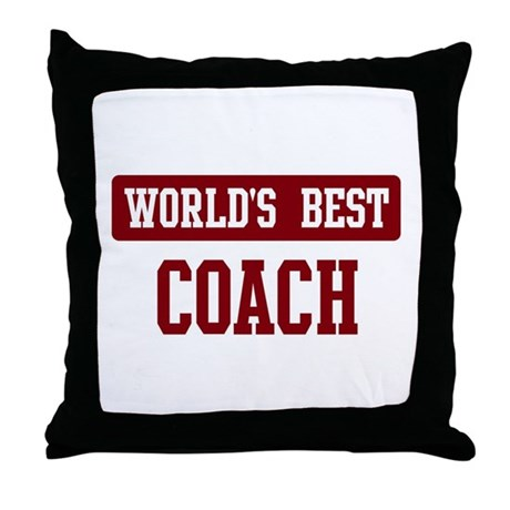 Worlds best Coach Throw Pillow