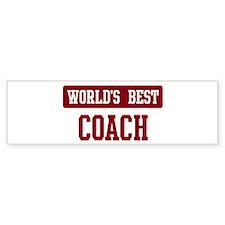 Worlds best Coach Bumper Bumper Sticker