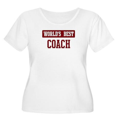 Worlds best Coach Women's Plus Size Scoop Neck T-S