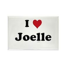 I love Joelle Rectangle Magnet