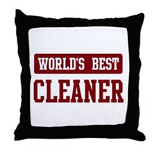 Worlds best Cleaner Throw Pillow