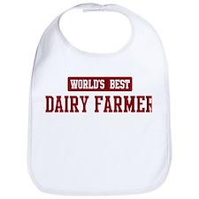 Worlds best Dairy Farmer Bib