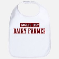 Worlds best Dairy Farmer Bib
