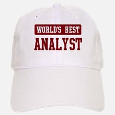 Worlds best Analyst Baseball Baseball Cap
