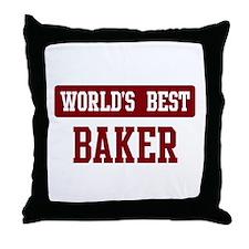 Worlds best Baker Throw Pillow