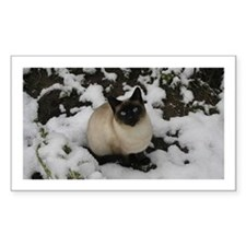 Snow Chow Chow Rectangle Sticker 10 pk)