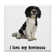 Havanese Love Tile Coaster