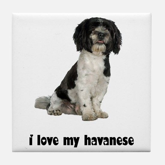 Havanese Love Tile Coaster